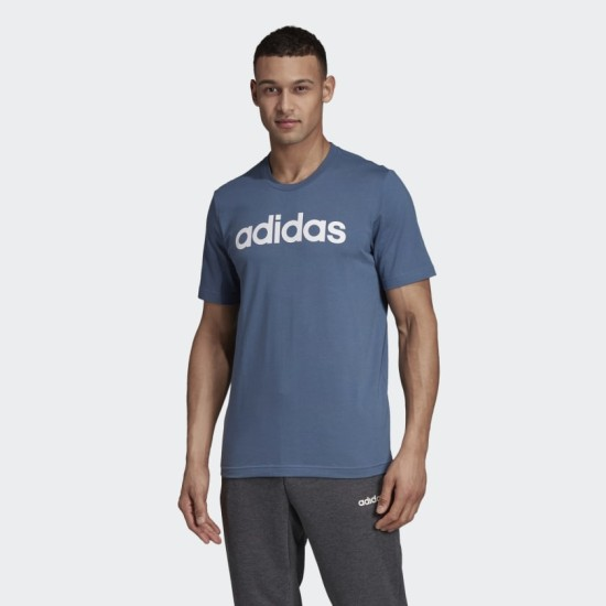 adidas Essentials Linear T-Shirt Blue