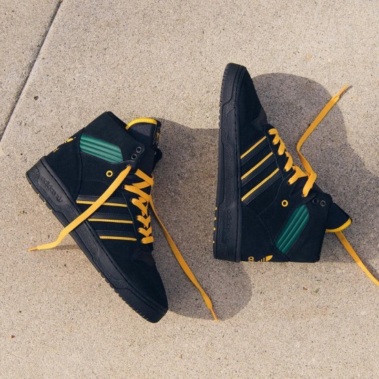 adidas Rivalry Hi Na-Kel Smith Black / Gold / Green