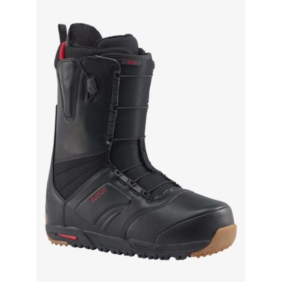 Burton Ruler Speedzone Mens Snowboard Boots Black / Red / Gum