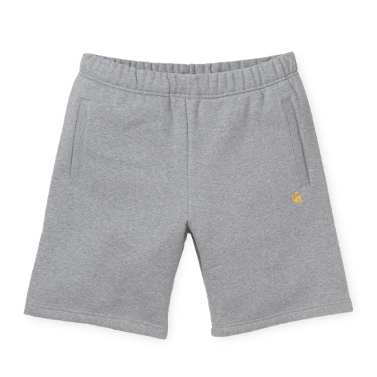 Carhartt Wip Chase Sweat Shorts Grey Heather / Gold