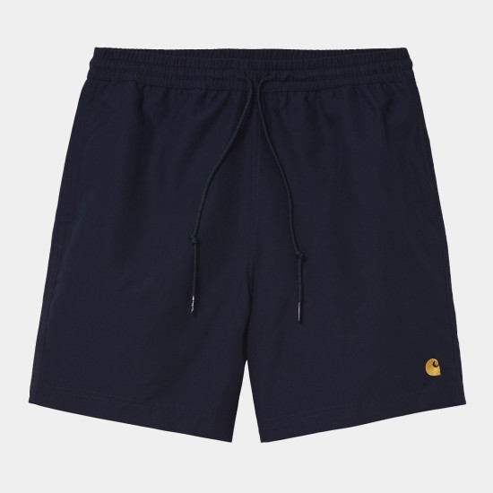 Carhartt WIP Chase Swim Trunks Dark Navy Blue / Gold