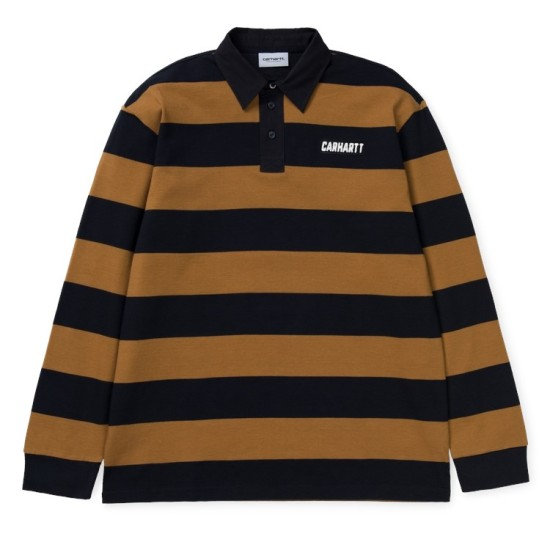 Carhartt Wip Easton Rugby Polo Brown