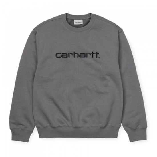 Carhartt Wip Carhartt Embroidered Sweatshirt Husky / Black
