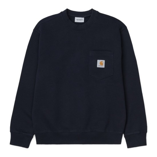 Carhartt Wip Pocket Sweatshirt Dark Navy Blue