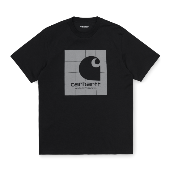 Carhartt Wip Reflective Square T-Shirt Black / Reflective Grey