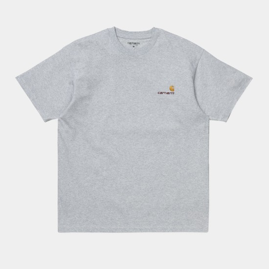 Carhartt WIP S/S American Script T-Shirt Ash Heather Grey