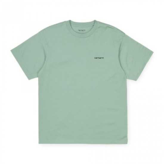 Carhartt Wip S/S Script Embroidery T-Shirt Frosted Turquoise