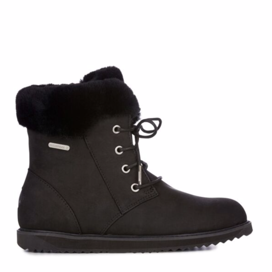 EMU Shoreline Leather Lo Boots Black