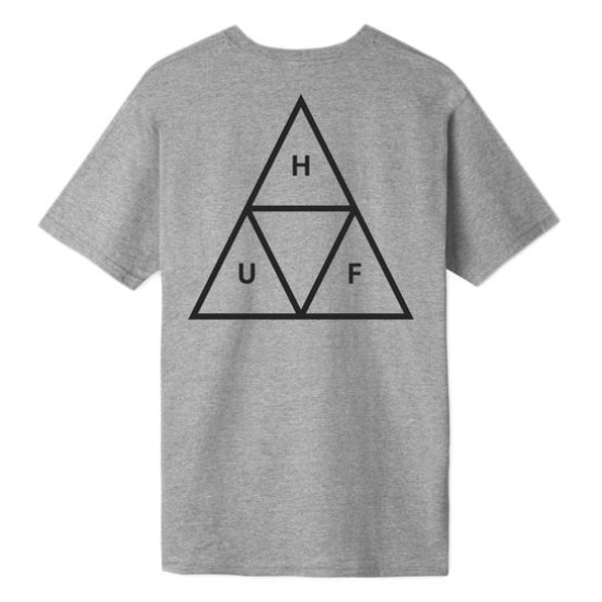 HUF Triple Triangle Essential T-Shirt Grey Heather