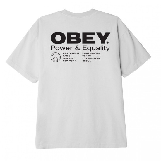 OBEY Power & Equality T-Shirt White