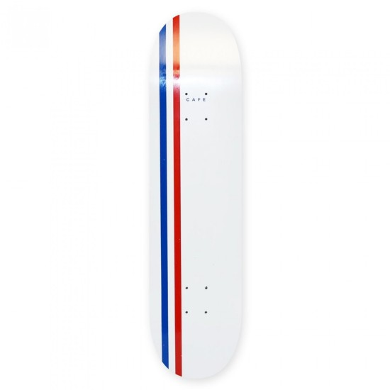 Skateboard Cafe Stripe Deck White / Royal / Red