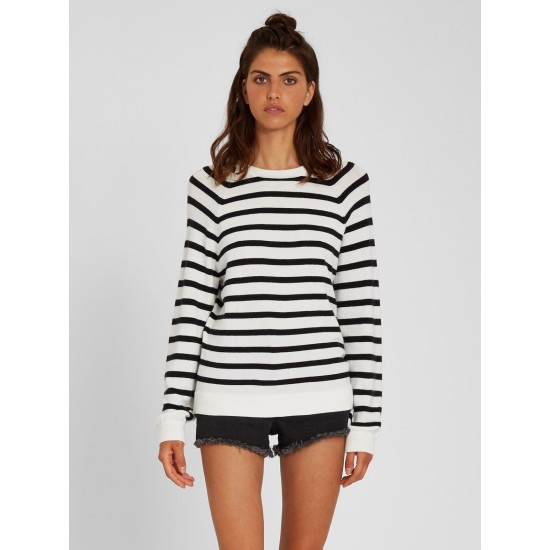 Volcom Over N Out Sweater Black / White